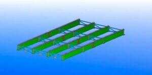 estructura preensamble puente metalico